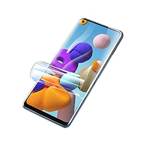 Draxlgon [2 Piezas] Película de hidrogel Compatible con Xiaomi Redmi Note 9 Pro 5G M2007J17C 6.67inch,Protector de Pantalla TPU Soft Full Cover (Transparente,no película de Vidrio)