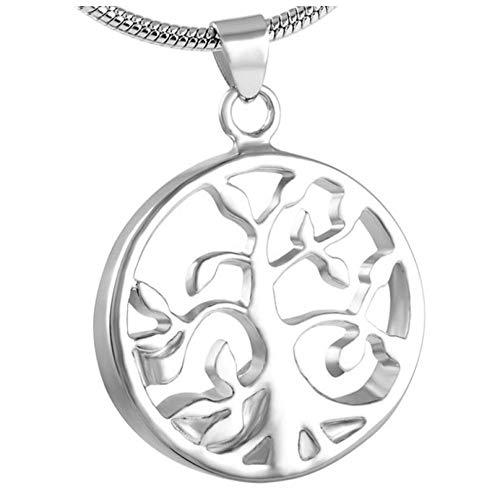 Wxcvz Collar para Cenizas Árbol De La Vida Cenizas Recuerdo Memorial Urna Collar Mascota O Persona Urnas De Cremación Colgante Cenizas
