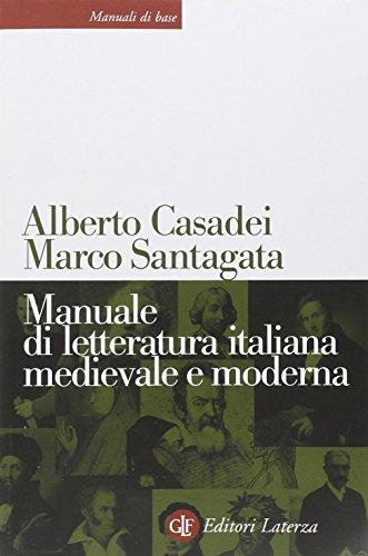 Manuale di letteratura italiana medievale e moderna