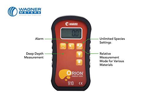 Wagner Meters Orion 910 Deep Depth Pinless Wood Moisture Meter Kit -...