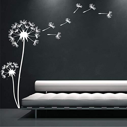 EmmiJules Wandtattoo Pusteblumen DELUXE - Made in Germany - verschiedene Farben und Größen - Wohnzimmer Schlafzimmer Löwenzahn Wandsticker Wandaufkleber Kinderzimmer (150cm x 150cm, weiß)