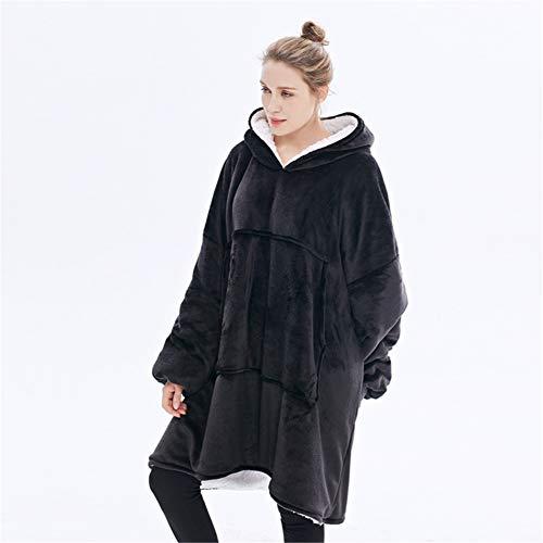 sherpa de gran tamaño sudadera con capucha sudadera felpa suave cálida larga...
