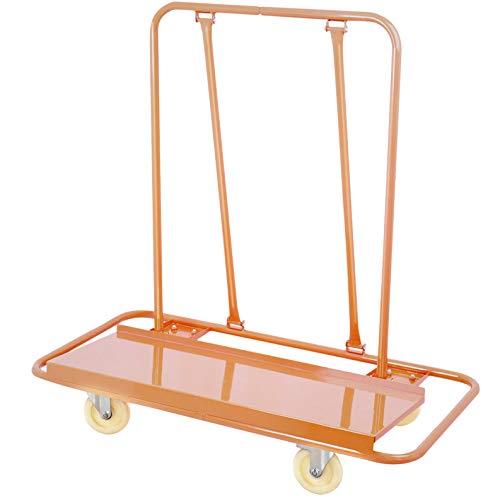 VEVOR Drywall Cart Plasterboard 3000LBS Load Capacity Drywall Cart Dolly Handling Sheetrock Sheet Panel Service Cart Heavy Duty Drywall Plasterboard Casters(3000LBS)