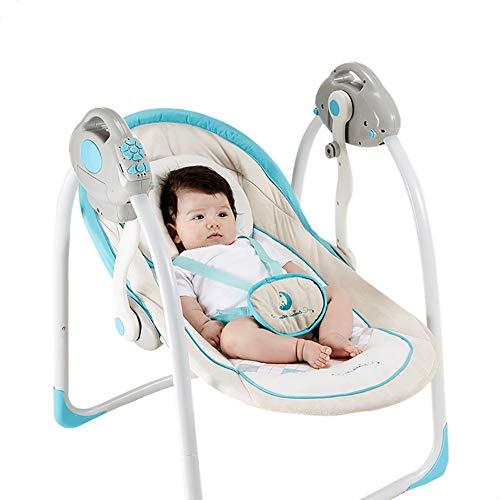 Brincolines plegables plegables balancín balancín balancín eléctrico silla de bebé recién nacido...