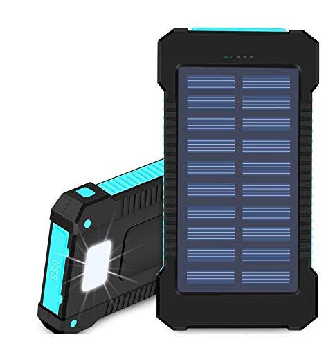 Cargador Solar Portátil De 20000 Mah Con 2 Salidas, Batería Externa Impermeable Para Acampar Al Aire Libre, Cargador Portátil Con Batería Para La Mayoría De Los Teléfonos Inteligentes, Tabletas, GPS