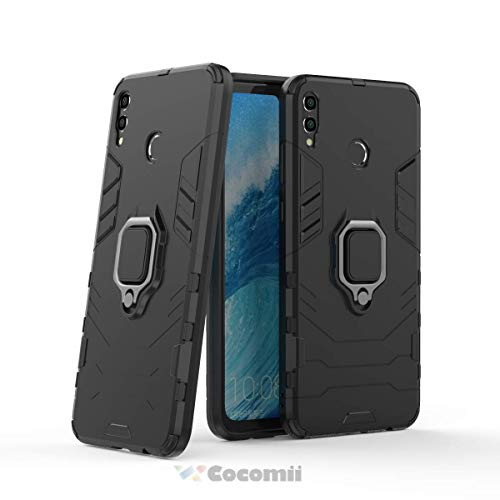 Cocomii Black Panther Armor Huawei Honor 8X Max/Enjoy Max Case New [Heavy Duty] Tactical Metal Ring Grip Kickstand [Works with Magnetic Car Mount] Cover for Huawei Honor 8X Max (B.Jet Black)