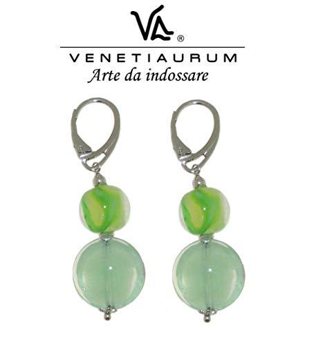 Venetiaurum - Damen-Ohrringe aus Muranoglas und Silber 925 - Made in Italy.