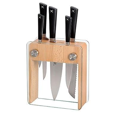 Mercer Culinary Züm 6-Piece Forged Block Set, Beech Wood and Glass