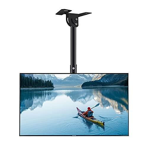 CCBBA Soporte De Techo para TV De Altura Ajustable, Se Adapta A Televisores De 23 A 50 Pulgadas, Admite hasta 50 Kg De Pantalla LCD, Abatible 30 ° hacia Abajo (Size : 0.5-1.4m)