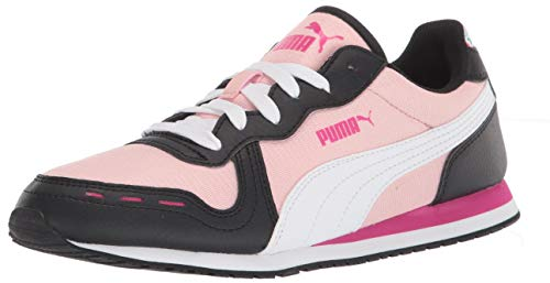 PUMA Cabana Run, Zapatillas Mujer, Peachskin Blanco Negro, 38.5 EU