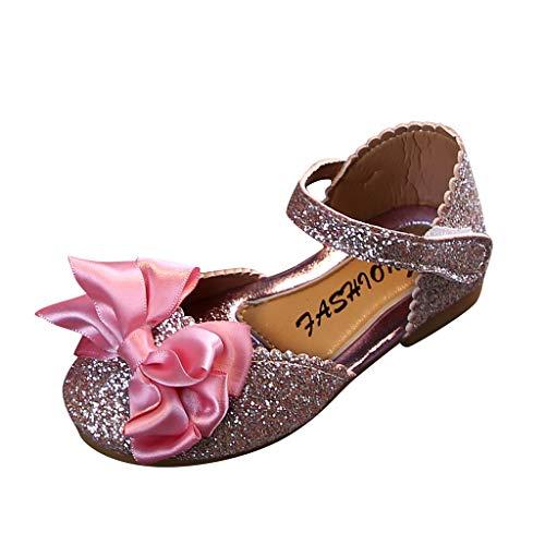 Patifia Kleinkind Baby Mädchen Pailletten Sandalen Einfarbig Schmetterlingsknoten Prinzessin Schuhe Süß Mode Bling Einzelne Schuhe Klettverschluss Freizeitschuhe Kinderschuhe Sommerschuhe