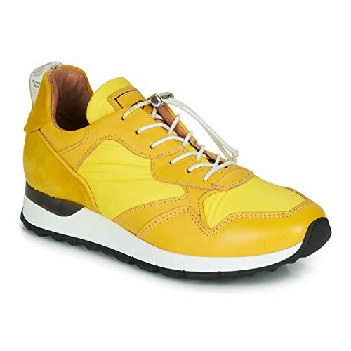 Mjus Cast Sneakers Dames Geel - 36 - Lage Sneakers Shoes