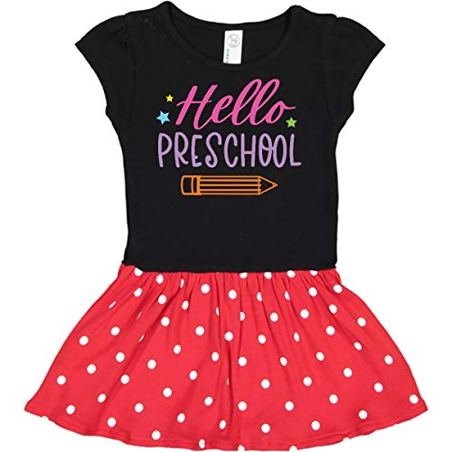 inktastic Back to School Toddler Dress 4T Black & Red with Polka Dots 3b8ed