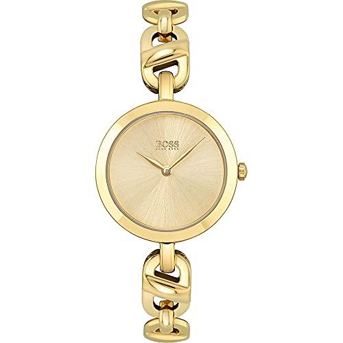 Hugo BOSS Womens Analog Quartz Uhr mit Edelstahl Armband 1502591