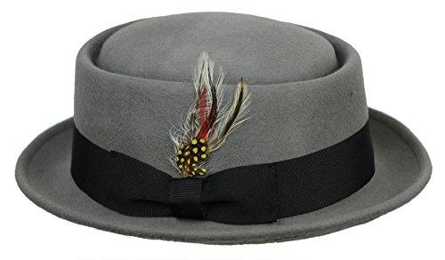Para hombre mujer Vintage Crushable 100% lana Pork Pie de Breaking Bad Heisenberg sombrero de fieltro