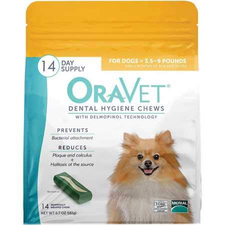Oravet Dental Hygiene Chews XSmall UP to 10LBS (14 Count)