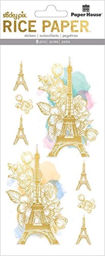 Paper House Productions Rice Paper Sticker, Paris (2 Pack), 2 Piece