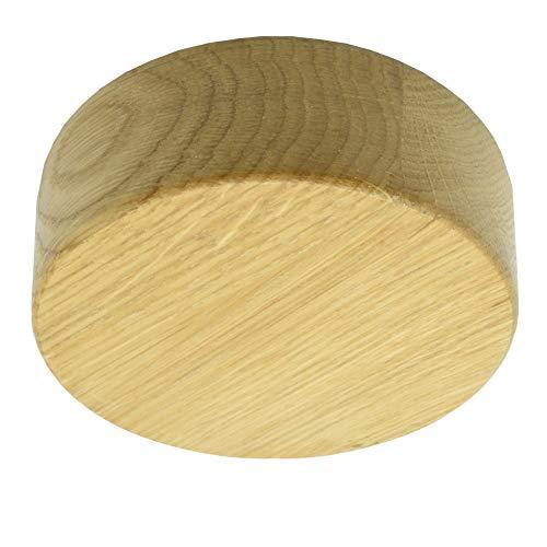 Verteilerdose Holz Eiche mit Zubehör ø 85x28mm Verteilerbaldachin Aufputzdose Anschlussdose Echtholz braun