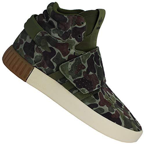 adidas Originals Tubular Invader Strap Damen Mid Top Sneaker Camouflage BB0392, Schuhgröße:38 2/3 EU, Farbe:Camouflage