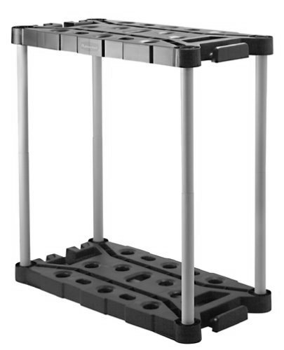 Rubbermaid Long-Handle Tool Storage Unit (FG709218MICHR),Black