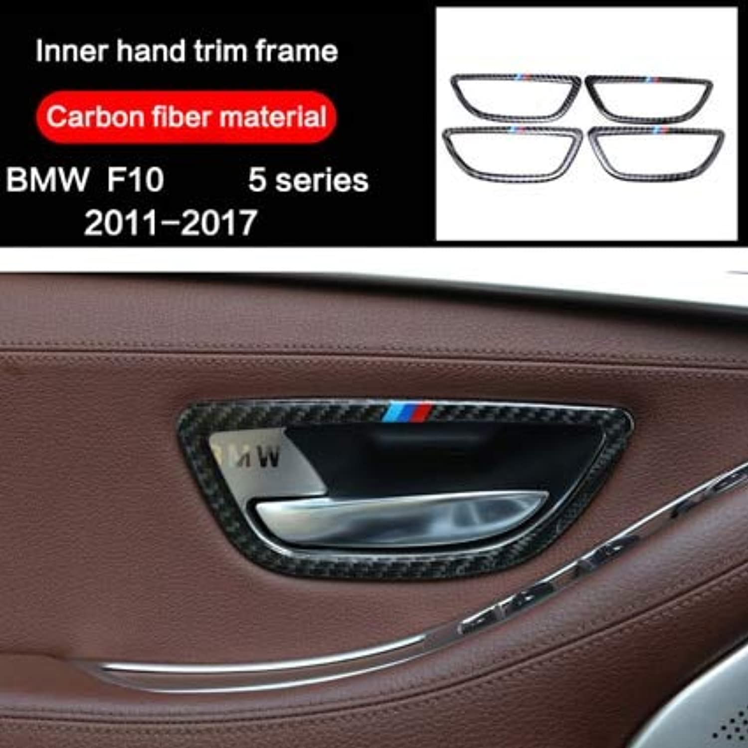 For BMW F10 5 Series 20112017 Accessories Carbon Fiber Car Interior Door Handle Cover Trim Door Bowl Stickers Decoration  (color Name  Door Handle)