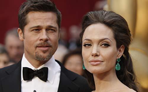 Actors Poster, Angelina Jolie Print, Smile Poster, Celebrities Print, Brad Pitt Poster, Suit Print (XL - 24'' x 36'')
