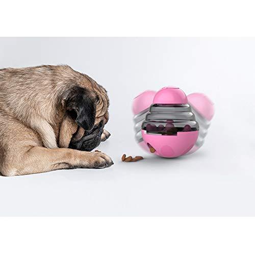 ZHAJIAN Vaso Interactivo para Perros Juguetes Bola Aburrimiento Comida para Mascotas Dispensador con Fugas Juguetes Rompecabezas Tratar Comida Vaso Entretenimiento