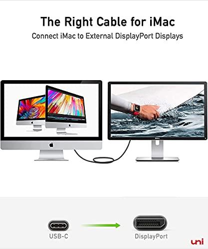 USB C auf DisplayPort Kabel (4K@60Hz, 2K@144Hz), Thunderbolt 3 zu DisplayPort-Kabel, Kompatibel für MacBook Pro 2019/2018/2017, MacBook Air, iPad Pro 2020/2018, Surface Book usw. 6ft/1,8m - 8