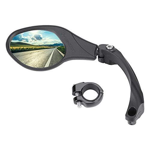 Dilwe Fahrrad Rückspiegel für Lenker, Edelstahl Fahrradspiegel, verstellbar, 360° Drehungsüberprüfung, Rückspiegel für 22,2 mm Rennrad Mountainbike, Links, rechts