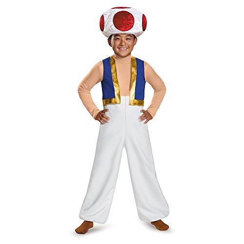 Nintendo Super Mario Bros- Deluxe Disfraz, Color Toad, 10-12 años ...