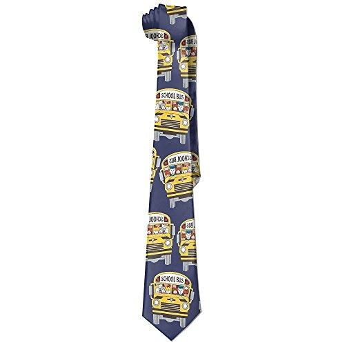 Y-WBS School Bus Necktie Skinny Ties