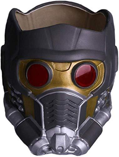 Guardianes De La Galaxia Star-Lord Casco Máscara Máscara Facial De Halloween Cosplay Hombres Parte Adulta Disfraz De Disfraces Prop,Black-OneSize