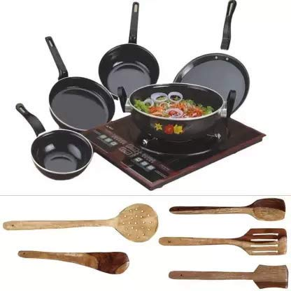 Stainless Steel Induction Bottom Cookware Set (2L) Black