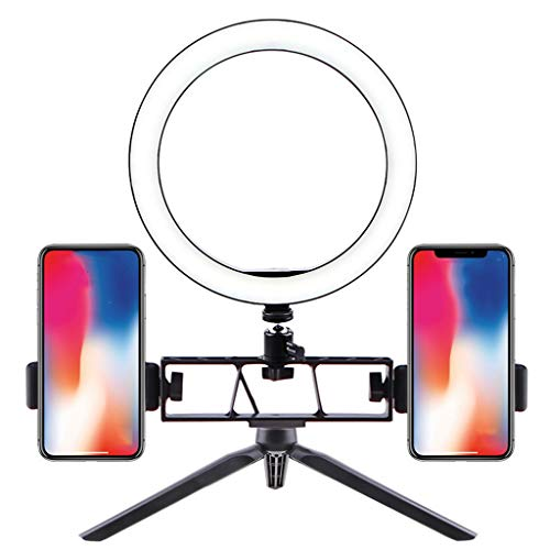GaLon Led-ring met statief mini desktop kleine armband, anker mobiele telefoon Live Double Bracket, fotografie Beauty Fill Light Dimmer 3 lichtmodi