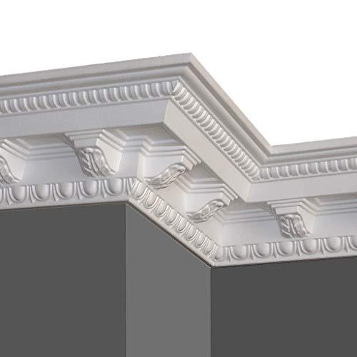 A la Maison Ceilings GK19pw-5 Corbels DIY Glue-up Foam Crown Molding (Pack / 32.5 ln. ft.), White