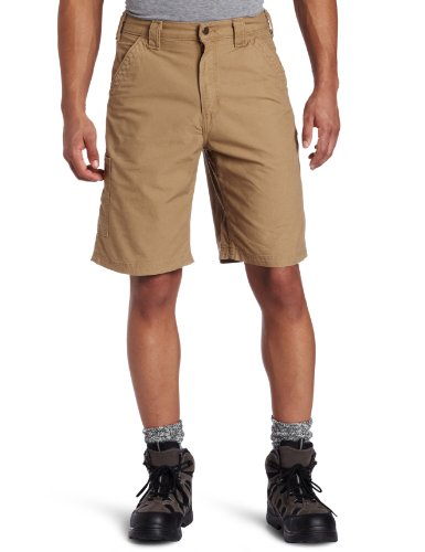 Carhartt Men's Canvas Work Short B147,Dark Khaki,38