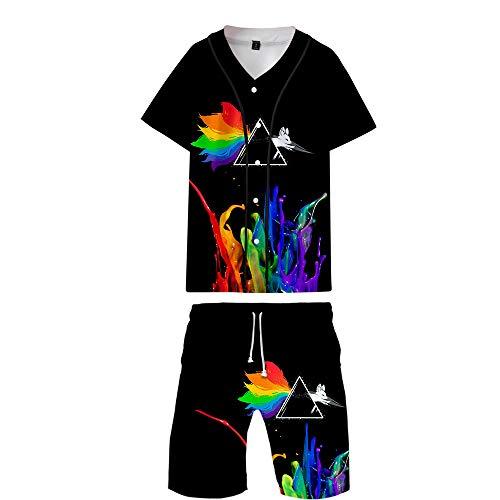 APHT Love is Love LGBT Gay Lesbian Pride Crop Top Camisetas y Pantalones Rainbow Manga Corta Crew Neck Top y Short 2 Piezas Sportswear Tracksuits