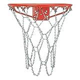 CDsport Red Baloncesto, Red Canasta en Acero Inoxidable, Tamaño Regulatorio, Durable e Fácil de Instalar, Recambio Canasta de Baloncesto, Retina Profesional Ultrarresistente