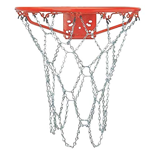 CDsport, Metall-Basketballnetz, aus Edelstahl, Zulassungsgröße, Ultrabeständig, für Standardkörbe, Professionelles Netz