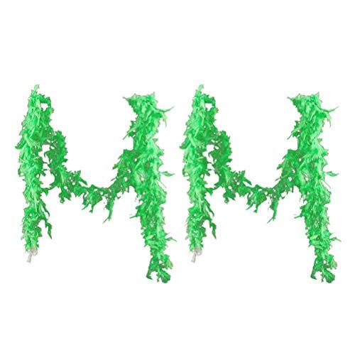 ABOOFAN 2 plumas de pavo creativas de 1,8 m para colgar en la fiesta de carnaval (verde).