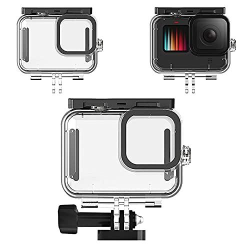 Haoyipu For Gopro Hero 9 45m Estuche Impermeable para cámara, Carcasa Protectora para Buceo, Accesorios para Cubierta de Buceo bajo el Agua