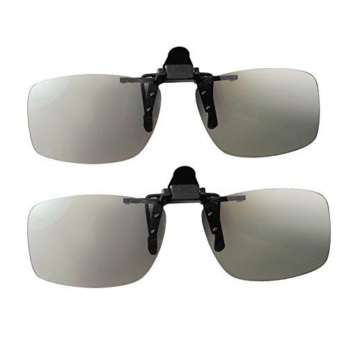 docooler 3d Brille Clip-On Universale passive kreisförmige polarisierte 3d Brille für TV polarisiert Cinema Real D 3d für Sony Panasonic–2Paar