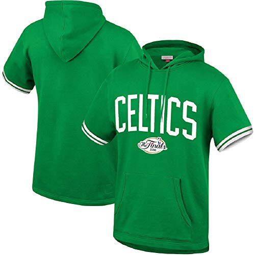 Mitchell & Ness NBA Youth Boys (8-20) Short Sleeve French Terry Hoodie, Boston Celtics X-Large (18-20)