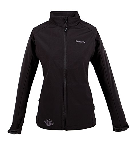 Deproc Active Damen SUN Peak Softshell Jacke, Black, 48