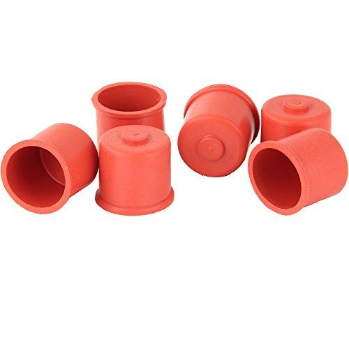 FACKELMANN Mostkappen 6 Stück Größe 2 in rot, Naturkautschuk, 3 x 3 x 2.5 cm, 6-Einheiten