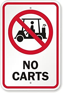golf course cart signs