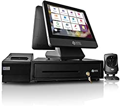 NRS Cash Register for Small Businesses (USA ONLY)- POS System Bundle Includes -Merchant Touch Screen Monitor, Customer-Facing Display, Barcode Scanner, Cash Drawer and Receipt Printer