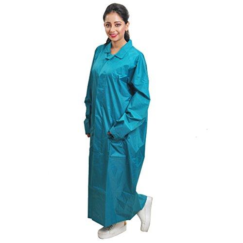 Duckback Women's Solid Raincoat (katbluexl_Blue_X-Large)