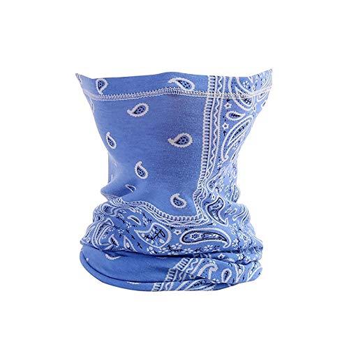 Janly Clearance Sale Decoración & Hangs, Impresión digital toalla para montar al aire libre oreja colgando máscara a prueba de insectos, para Navidad Casa y Jardín Decorar, (A)