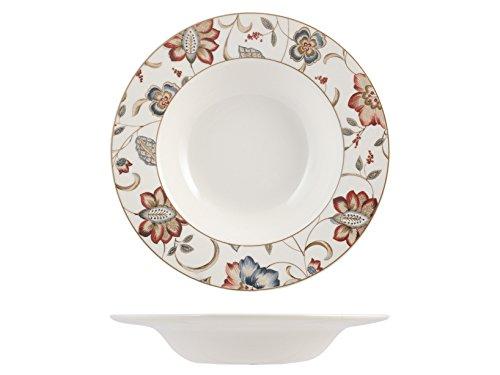 Churchill Jacobean Set Assiettes Table Fonds, Earthware, Blanc, 6 unités